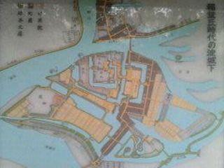 淀城の地図
